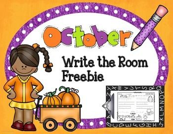 october write the room freebiethis october themed write the room activity is a fun way to - Halloween Art For Kindergarten