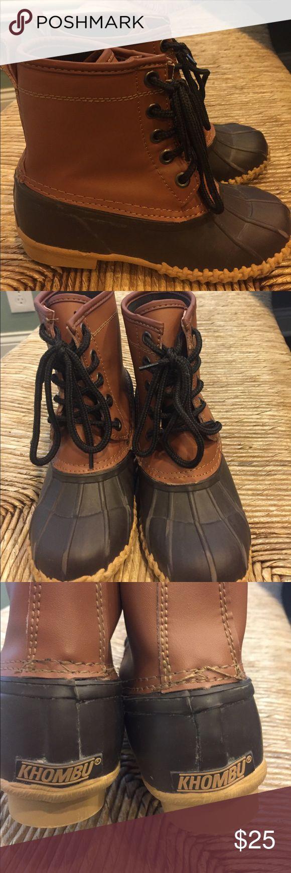 Khombu kids duck boots Khombu kids duck boots, worn 2-3x Khombu Shoes Rain & Snow Boots