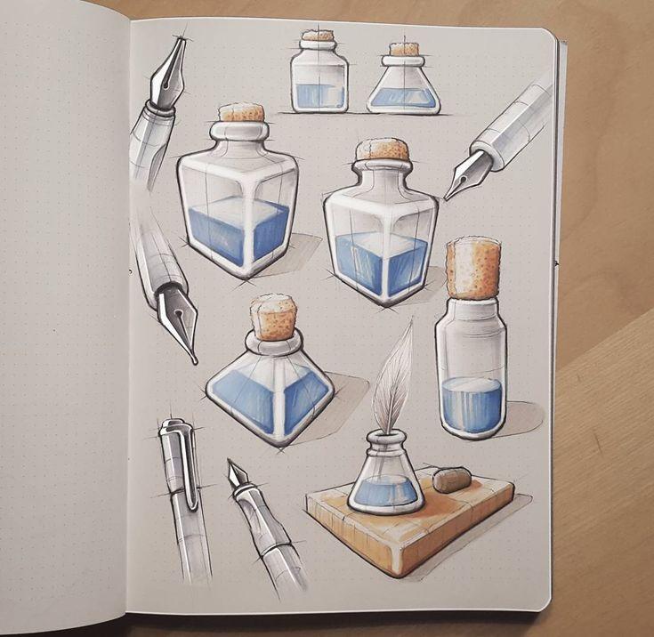 some more illustrative markersketch from my sketchbook. by mxrxvs
