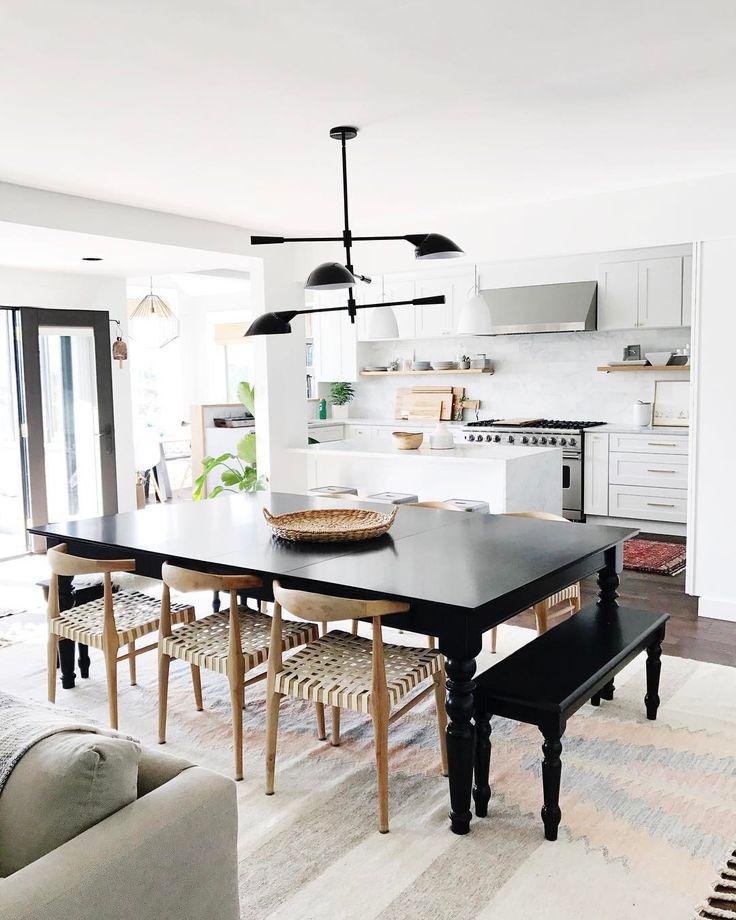 598 best d i n i n g images on pinterest dining rooms for Black n white dining rooms