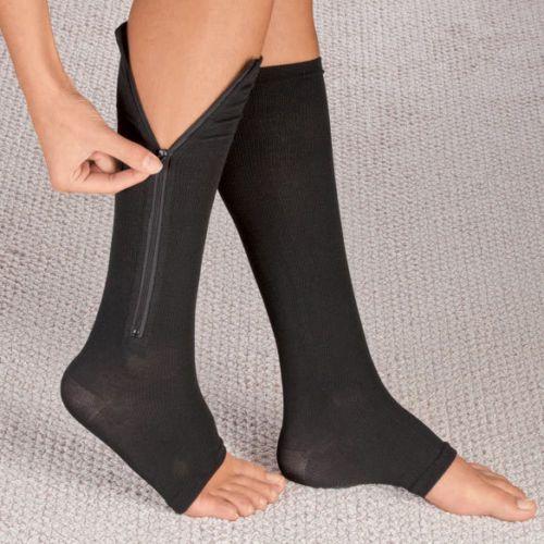 Zippered Compression Socks~Support Stockings~Leg Calf~Men's & Women's Sox (L-XL) #CompressionSocks