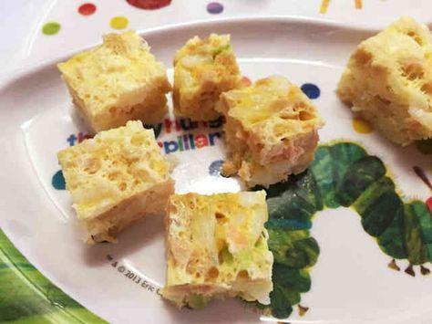 離乳食☆電子レンジで手づかみ納豆卵ご飯の画像