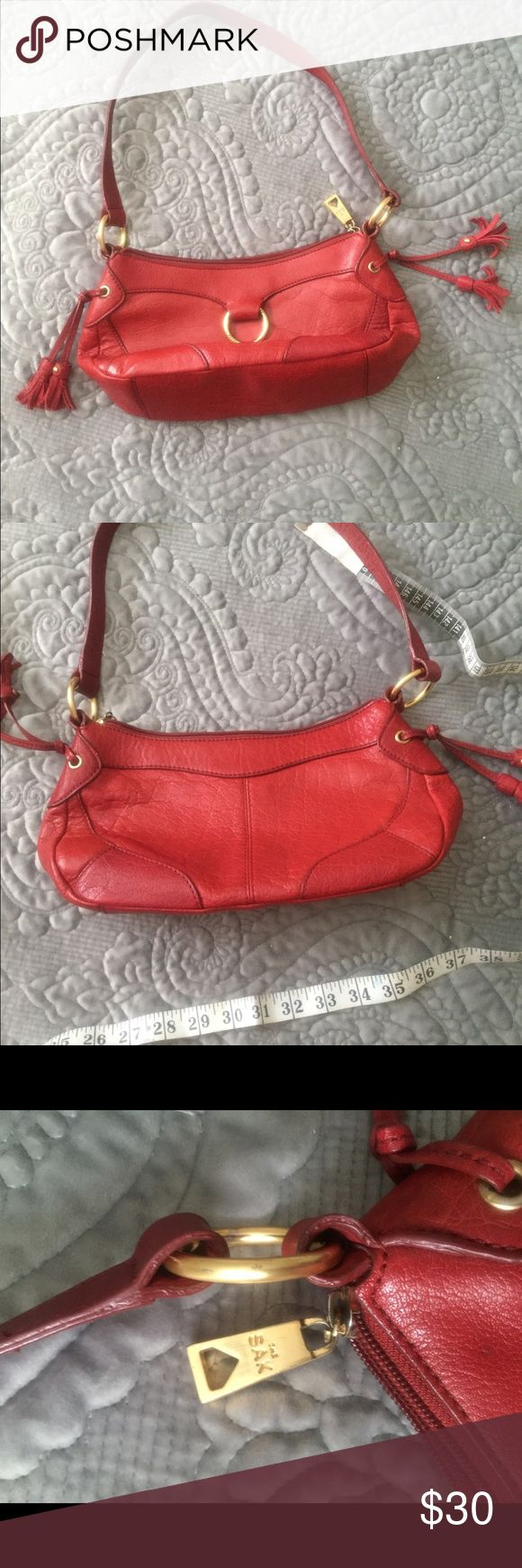 The Sak Red Shoulder Bag Very Cute Red Leather Shoulder Bag Gently Used  No Tears/Stains in Great Condition. The Sak Bags Shoulder Bags