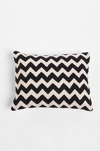 Crewel Embroidered Zigzag PillowDecor, Urban Outfitters, Pillows Urbanoutfitters, Chevron Pattern, Embroidered Zigzag, Living Room, Apartments, Zigzag Pillows, Crewel Embroidered