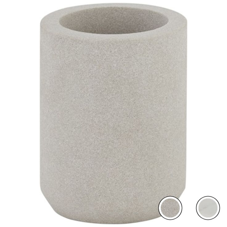 Malie Bathroom Tumbler, Sandstone from Made.com. Neutral. NEW Express delivery. Ditch those plastic soap bottles and mismatching tumblers and trays ..