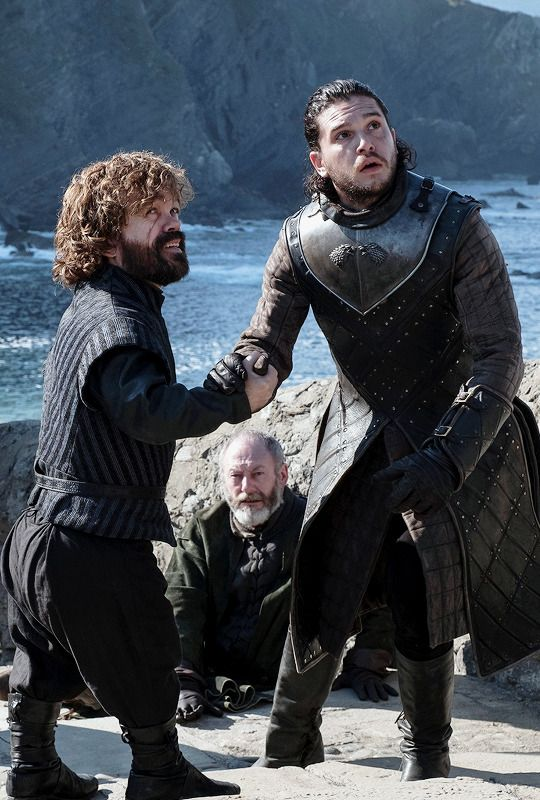"Jon Snow, Tyrion Lannister & Davos Seaworth in 7.03 ""The Queen's Justice"""