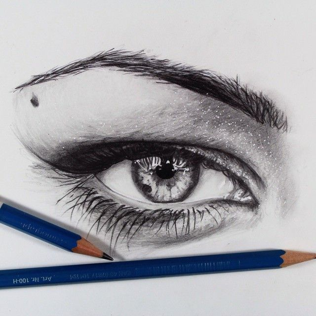 how to draw an eye with pastel pencils