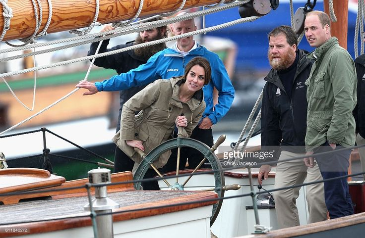 Catherine, Duchess of Cambridgehelms the tall ship Pacific Grace in Victoria Harbour on the final day of their Royal Tour of Canada on October 1, 2016 in Victoria, Canada. The Royal couple along with their Children Prince George of Cambridge and Princess Charlotte are visiting Canada as part of an eight day visit to the country taking in areas such as Bella Bella, Whitehorse and Kelowna  (Photo by Chris Jackson/Getty Images)