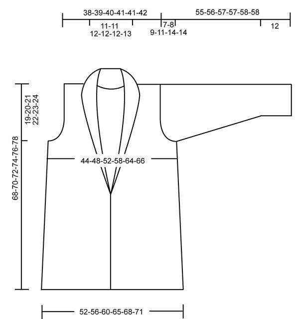 DROPS 106-29 - Casaco DROPS com gola tricotado em fio duplo Fabel – Tamanhos S-XXXL - Free pattern by DROPS Design