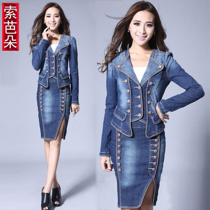 Online Get Cheap Denim Skirt Suits -Aliexpress.com | Alibaba Group