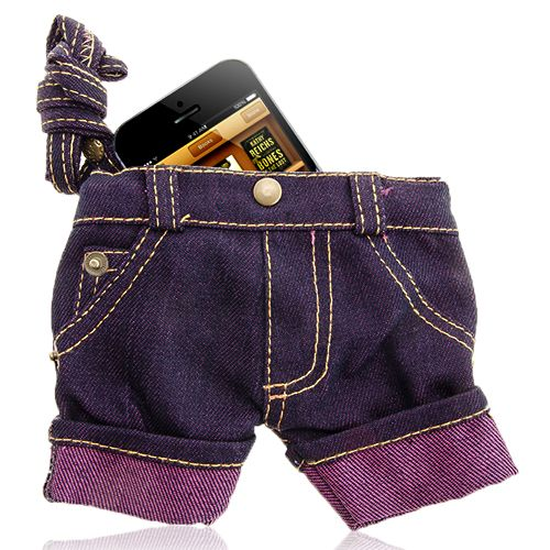 Short Jeans Pouch For Mobile Phone #short #jeans #smartphone #pouch #funny #accessory $9.86