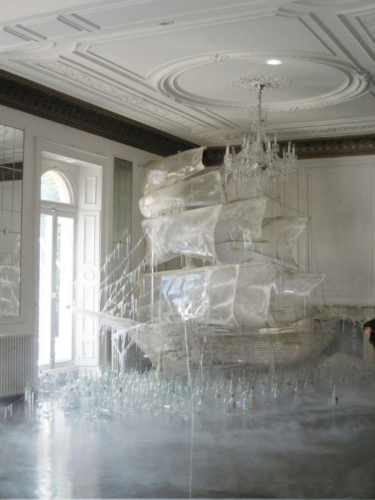 Ice ship sculpture created by set designer and art director Rhea Thierstein