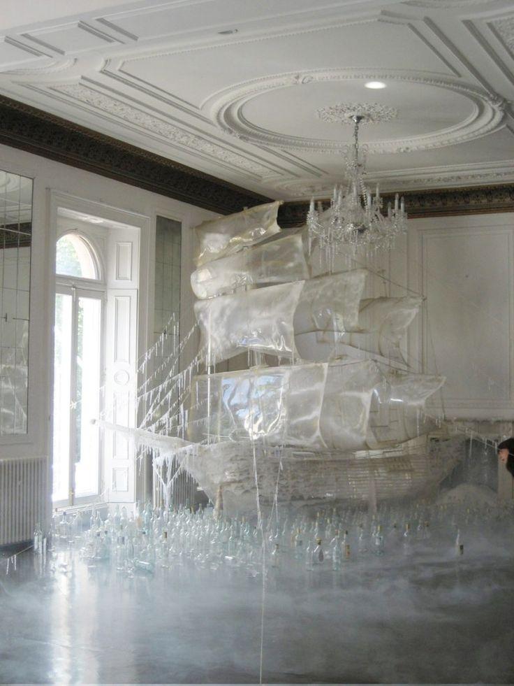 Ice ship sculpture created by set designer and art director Rhea Thierstein