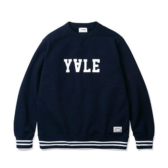 [에스피오나지 - Yale Ultra Weight Sweat Shirt Navy]