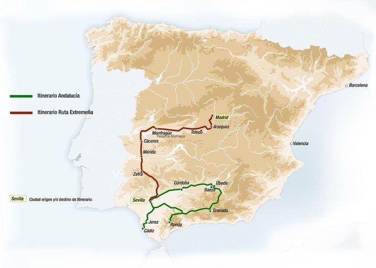 Mapa de Visitas y Excursiones del Al Andalus