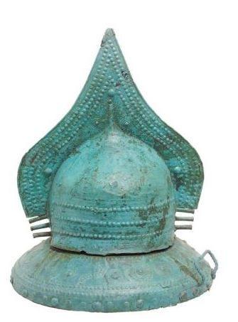 Villanovan helmet, 7th century B.C. Villanovan helmet, Etruscan helmet. Villa Giulia museum