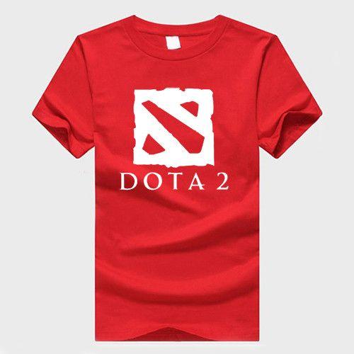 Defense of the Ancients T Shirt Men DOTA 2 Man T-Shirt Multiplayer Game Mens tshirt Cotton O Neck Camisetas Tops Plus Size