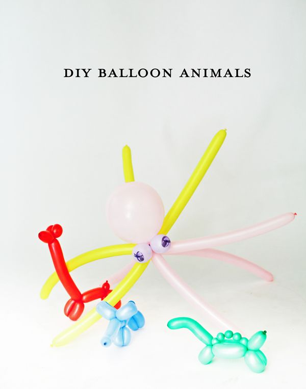 Learn how to make balloon animals - so easy! from a subtle revelry...because i'm going to need to know this soon