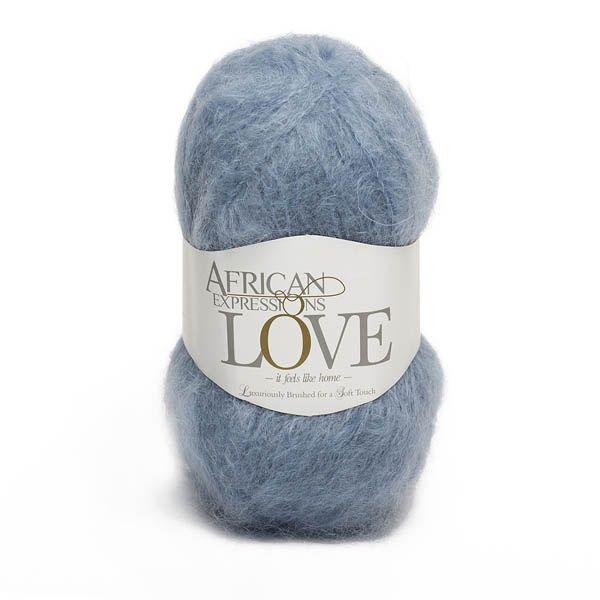Colour Love Slate blue, Chunky weight,  African expressions 32071, knitting yarn, knitting wool, crochet yarn, kid mohair yarn, merino wool, natural fibres yarn.