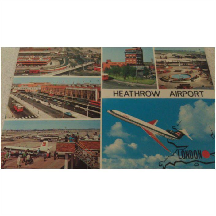 London HEATHROW Airport 1980s Postcard Queens Building
