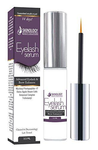 awesome Eyelash Growth Serum 3.5 ml - Thicker, Longer Eyelashes & Eyebrows Enhancer with Myristoyl Pentapeptide-17 & Swiss Apple Stem Cells - No Irritation, Dermatologist Tested - BEST Eyelash Growth Product