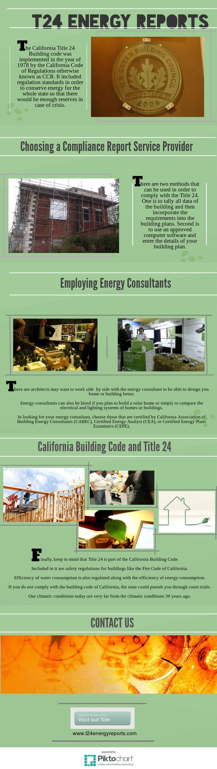 Title 24 is a law implemented in the State of California in order to achieve energy efficiency for buildings.  The law came to being in the year 1978 because during that time, California has experienced energy crisis.