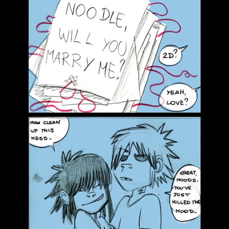 The red thread part 13 of 14 #noodle #2d #gorillaz #love #story #gorillaznoodle