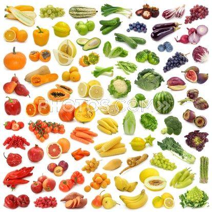 L'arcobaleno di frutta e verdura: le proprieta' in base al colore