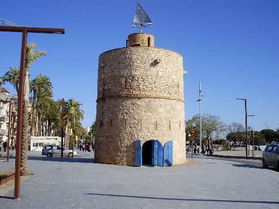 Torre de Ribes Roges....Watch tower in vilanova I la geltru, Spain