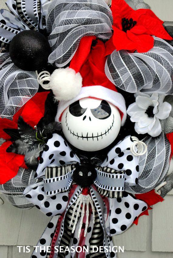 Nightmare Before Christmas Wreath Jack by TisTheSeasonDesign