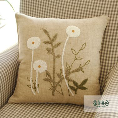 Little Daisy Embroidery Pillow