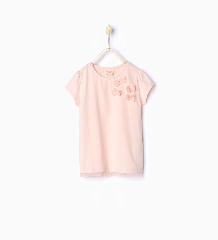 T - shirt à lacets en tulle. - Tout afficher - T - shirts - Filles | 3 - 14ans - ENFANTS | ZARA France