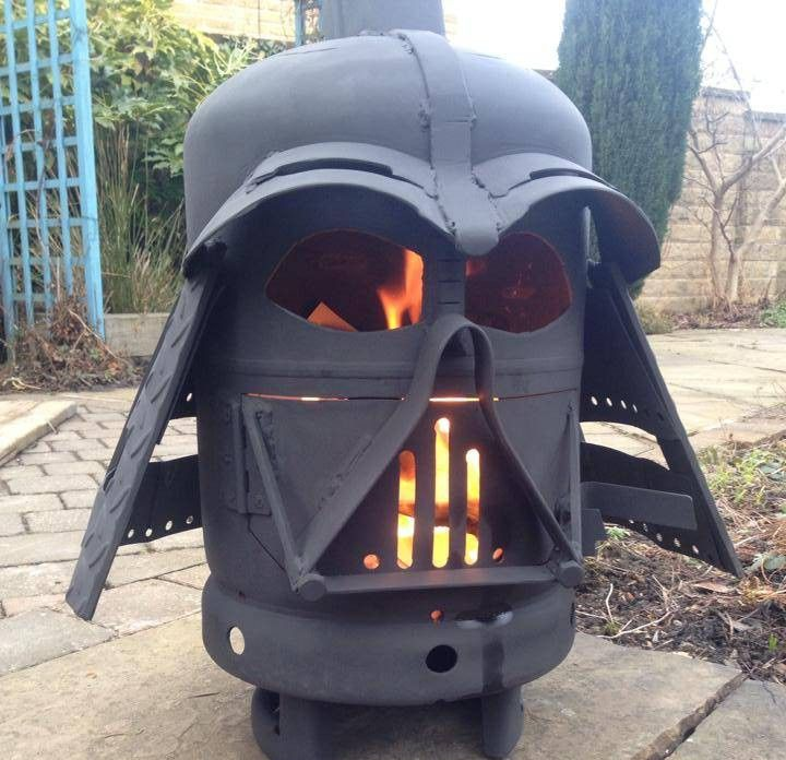 Yep, this is a Darth Vader fire pit, and it's the surprise garden furniture hit. Literally everyone wants one… even people who have never watched a second of Star Wars in their lives.