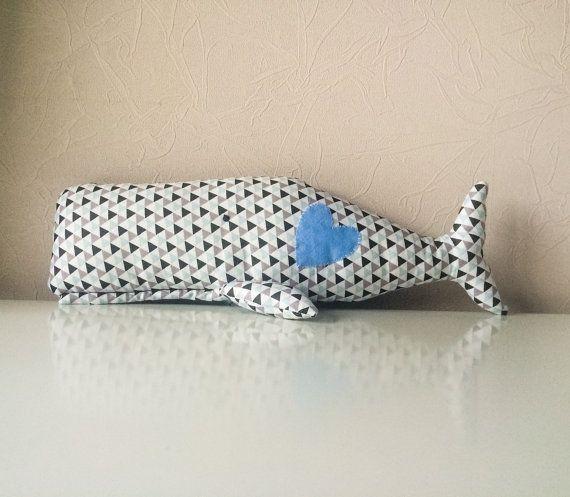 Мягкая игрушка кит от BeTheOriginal на Etsy