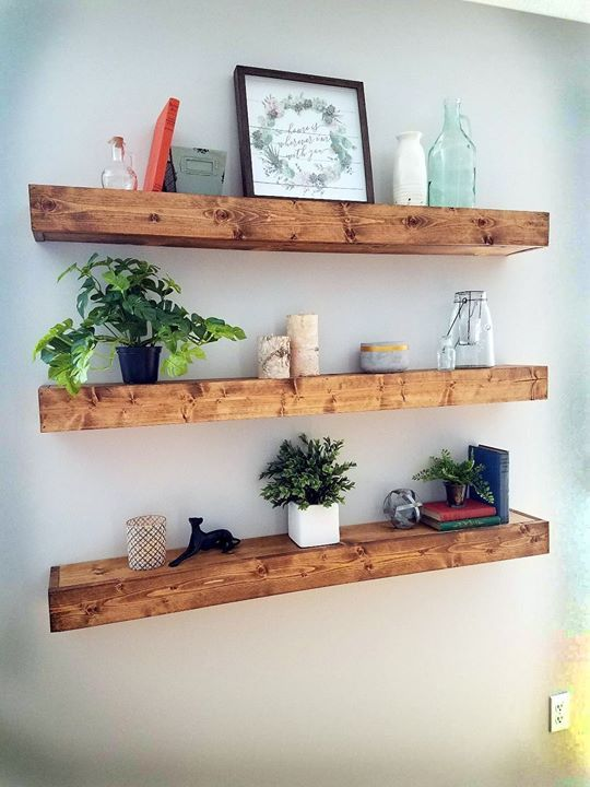 DIY Primitive Floating Bookshelves Check out the full project http://ift.tt/2m4dyOL Don't Forget to Like Comment and Share! - http://ift.tt/1HQJd81