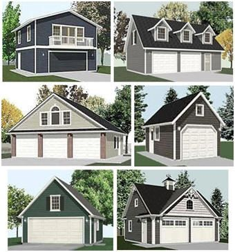 Find Top Quality Building Plans For One Car Two Car And Three Car Detached Garages