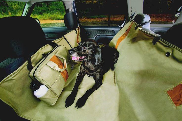 Wander Hammock Dog Car Seat Cover and Dog Car Barrier Combo
