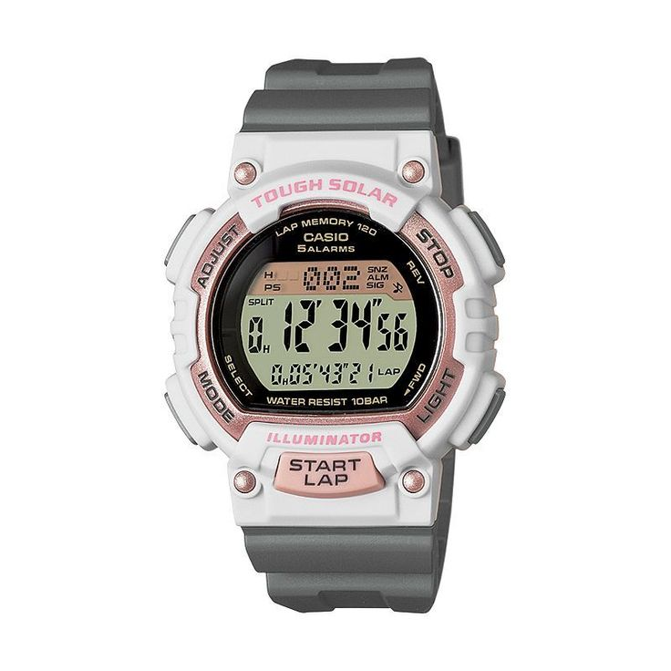 Casio Women's Tough Solar Digital Watch, Grey