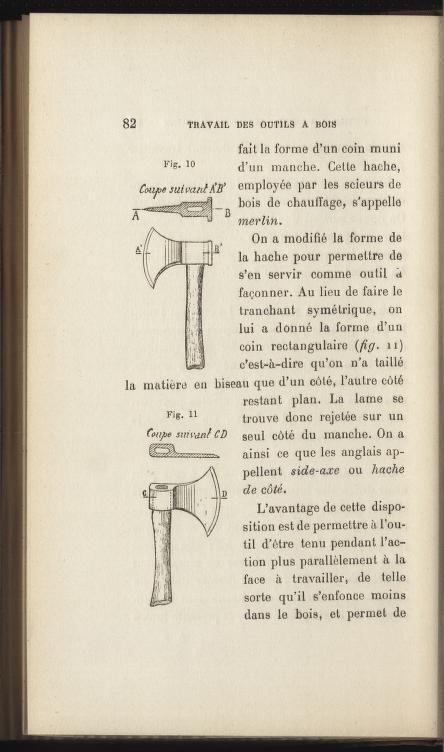 Recette, conservation et travail des bois : out... nástroje na prácu s drevom.