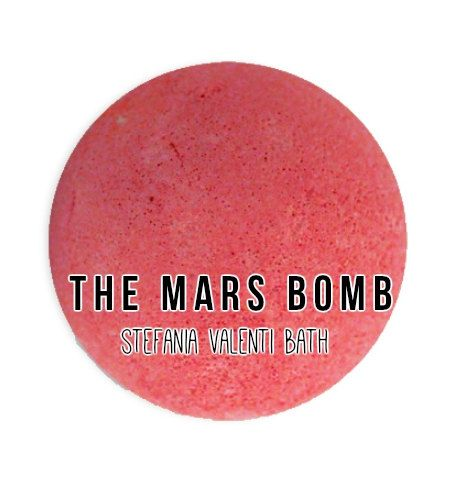 The Mars Bath Bomb  5 oz Free Shipping by StefaniaValentiiBath