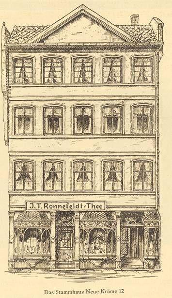 "The company's first domicile ""Neue Kräme"" in Frankfurt, Germany"