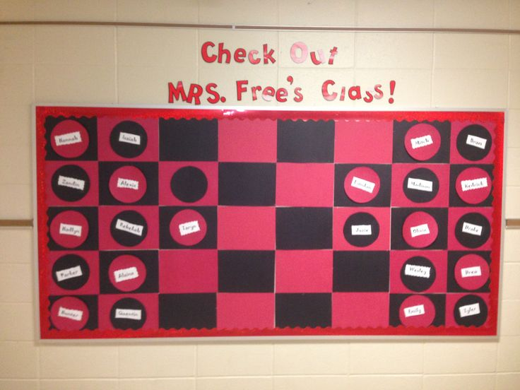 Checkers bulletin board
