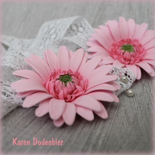 {Cheerful pink Gerberas by Karen Dodenbier}
