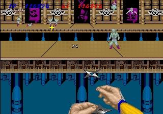 Shinobi gameplay screenshot.