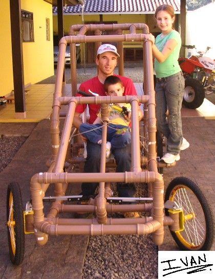 Build a PVC kartcross Pedal Car