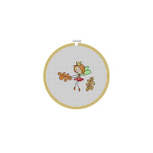 September Fairy Cross Stitch Pattern
