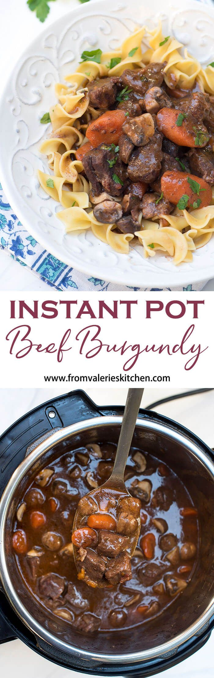 Your Instant Pot will help you create this luscious dish in a fraction of the time it would take using traditional methods. Instant Pot Beef Burgundy is rustic, flavorful and sure to impress.