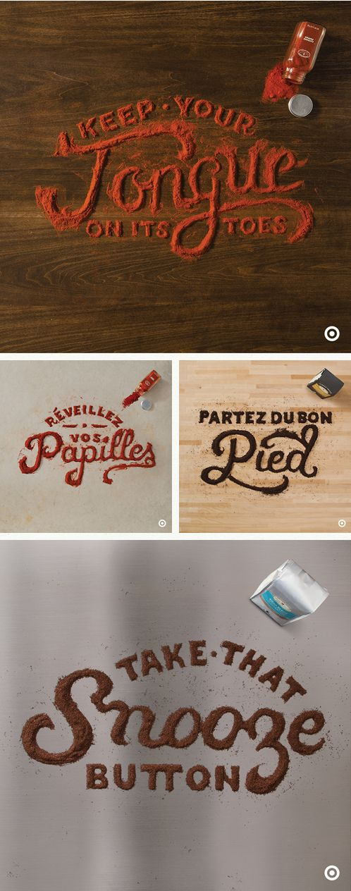 by Danielle Evans Expressive typography generated using the spices they advertise.