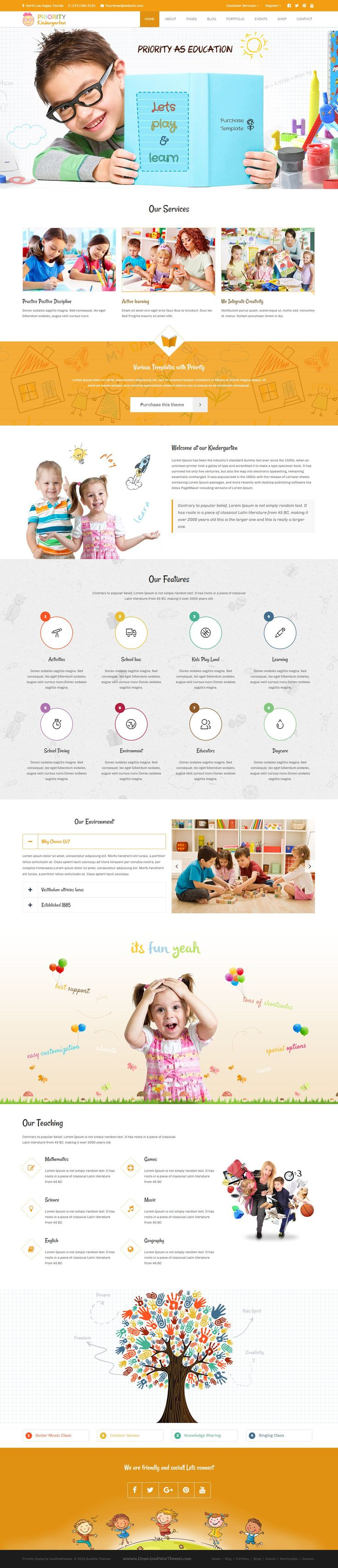 PRIORITY is well designed Mega Bundle WP Theme package for websites of all kind; Agency, Creative Corporate, All types of Business, Organization, Software, #Education, Medical, Charity, Personal Portfolio, Creative Blog, Photography and more… #Preschool #Kindergarten #website