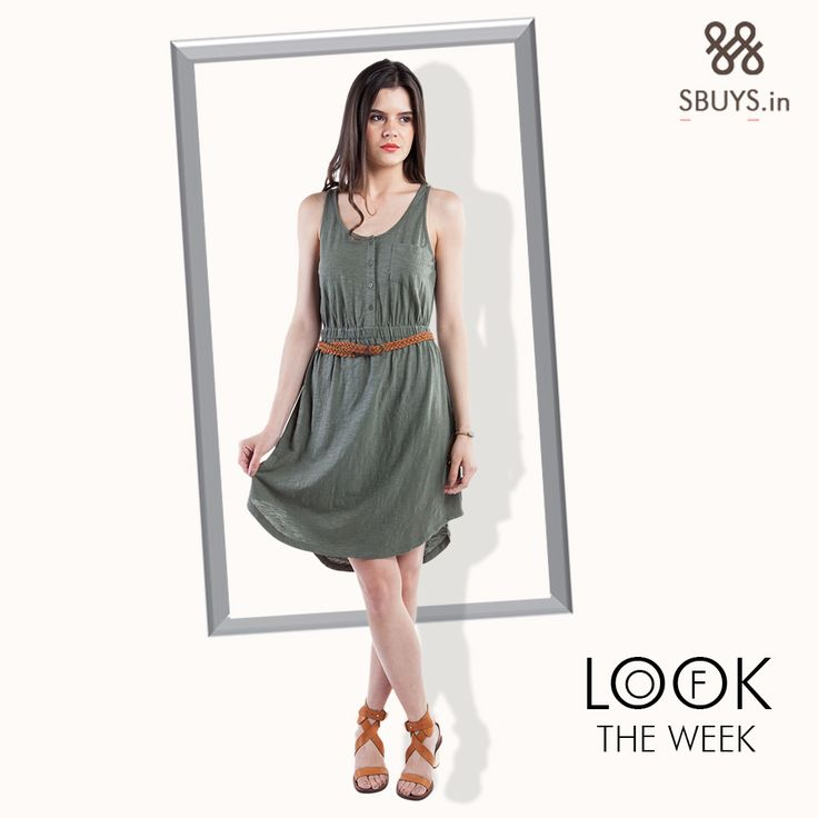 #Look of the week...fit and flare utility #dress >>> http://www.sbuys.in/sbuys-fit-and-flare-utility-dress.html